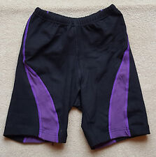 ACCLAIM Cotton Lycra Mens Ladies Fitness Shorts Small Black Purple