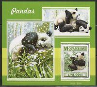 MOZAMBIQUE 2015 PANDAS  SOUVENIR  SHEET MINT NH