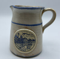 Deneen Mid-america Dairymen Sunrise Farm Scene Pottery Pitcher Vintage Farmhouse