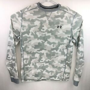 Under Armour Mens Loose Cold Gear Arctic Camo White Long Sleeve Thermal Shirt La