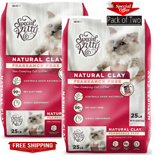 New listing Special Kitty Natural Clay Cat Litter Value Pack of 2, Unscented, 50 lb Sale New