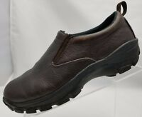 RedHead Mens XTR Casual Slip On Round Toe Brown Leather Cushioned Shoes Size 10