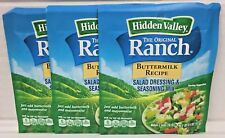 Hidden Valley Ranch Buttermilk Recipe Salad Dressing & Seasoning Mix 3 Pack