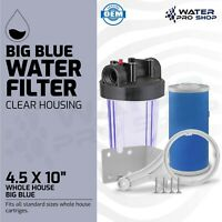10-Inch Whole House Big Blue Water Filter Housing & GAC Carbon Block Filter