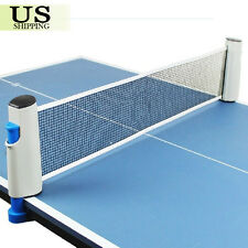 Games Retractable Table Tennis Ping Pong Portable Net Kit Replacement Set Grey