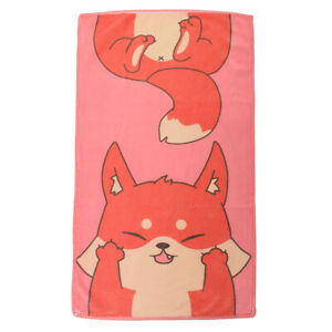 Cute Animals Face Towel Cartoon Corgi Fortune Cat Fox Hamster Pattern Towel