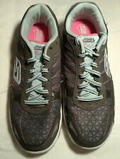 SKETCHERS GO WALK FLASH Grey/Green SHOES SIZE 11