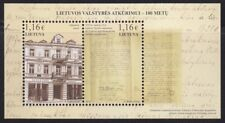 Lithuania MNH 100th Annivers.of Restoration of Lithuanian State Souvenir sheet