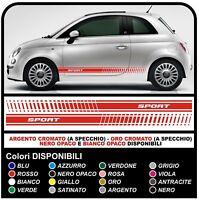 Adesivi FIAT 500 SPORT fasce adesive FIAT 500 adesivo 500 stickers decals
