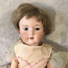"27"" Antique Armand Marseille 390n A12M Gray Sleepy-Eyed German Bisque Doll"