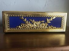 Fancy Gold and Royal Blue Tissue Holder 10.5�x 5.5� X 3.5�