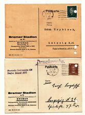 2 Postales Drucksache Bremen Estadio Radrennbahn 1928/29 (A3354