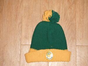 Vintage 70's GREEN BAY Packers Beanie Pom Pom Knit Ski Hat Football NFL