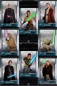 Topps Star Wars Digital Card Trader 8 Card Masterwork History Of The Jedi Set