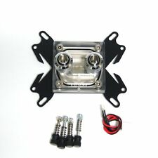 Clear Universal Water Cooling Copper LED CPU Block Fittings Screws for Intel AMD