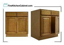 All Wood RTA Country Oak Sink Base Cabinet SB33 Ready To Assemble Kitchen