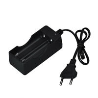 AC 110V 220V Dual Charger For 18650 3.7V Rechargeable Li-Ion Battery EU