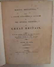 Vintage Book 1817 Magna Britannia Derbyshire Lysons Topography History Map