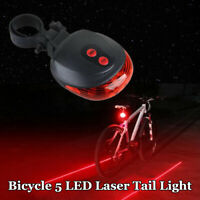 5 LED Red holder s Bicycle Bike Beam Rear Back Tail Flash Safety Lamp  * gift+