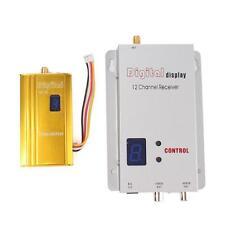 Set 1.2G 1.5W Wireless 1500mw AV Transmitter Receiver Kit RC Model FPV Video