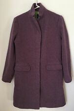 Womens GAP Purple Small Wool Cashmere Coat Green Lined Button Lavender EUC