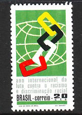 Brazil Sc #1184 Mint Nh International Year Against Race Discrimination