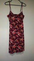 Womans Mini Dress Size L Red Floral Spaghetti Strap By My Michelle