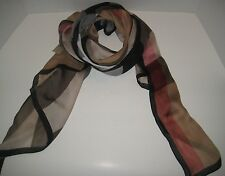 BURBERRY ULTRA MEGA CHECK WASHED MULBERRY SILK SCARF 190 X 70cm $450+