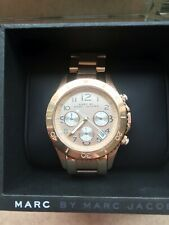 MARC JACOBS WOMENS CHRONOGRAPH WATCH ROSE DIAL RRP £250