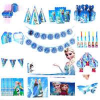 Disney Frozen Birthday Elsa Anna Party Supplies Tableware Balloon Decoration UK