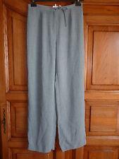 CAMAIEU Pantalon gris 40 (38/40) cordons taille