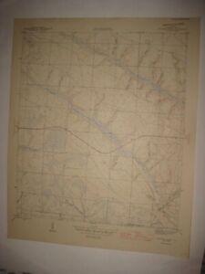 ANTIQUE 1945 JUNIPER CREEK CALHOUN COUNTY FLORIDA TOPOGRAPHIC MAP TOPOGRAPHICAL