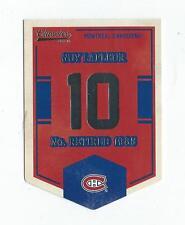 2012-13 Classics Signatures Banner Numbers #42 Guy Lafleur Canadiens