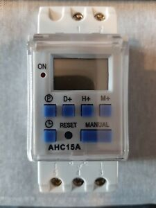 AHC15A Din Rail Mounting Digital Weekly Programmable Timer Switch 220v