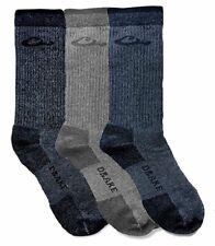 Drake Men's Socks Merino Wool Crew Sock, Waterfowl Size Large, Denim Gray black