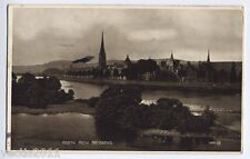 Perth, Perthshire, Scotland vintage Real Photo Postcard - view from Bridgend