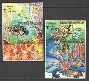 K0873 GUINEA FAUNA TROPICAL FISH & MARINE LIFE !!! 2KB MNH