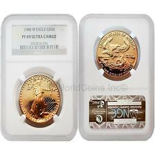 USA 1988W Eagle $50 1 oz Gold NGC PF69 ULTRA CAMEO