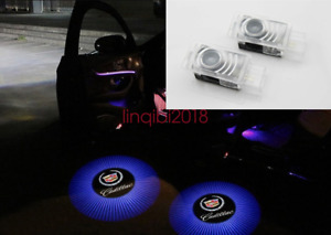2x Cadillac CT6 SRX ATS LED Light Projector Shadow Light Door Welcome Lights