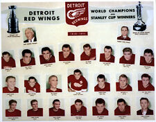Color Photograph Detroit Red Wings Stanley Cup Champs of 1949-50 Gordie Howe WOW