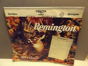 "2002 Wildlife Calendar from REMINGTON TIMBER of Bloomingdale Mi.  14' x 22"" hung"