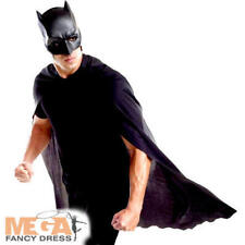 Batman Adults Cape with Mask Fancy Dress Dawn of Justice Mens Costume Accessory