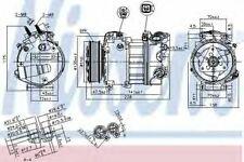 Nissens Compressor air conditioning 890124 Replace 9X2319D629DA,C2Z4345,LR013934