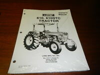 Long  610 610DTC Tractor Operators Owners Manual