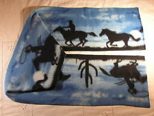 Horses on Blue Fleece Scarf