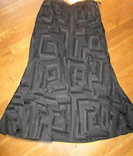 RALPH  LAUREN  COLLECTION ONE  OF  KIND   BLACK  PATCH QUILTS  SKIRT.  SIZE  6