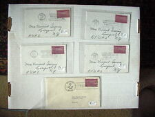 (5) First Day Issue Covers 1939 ~ fine/vf ~ SCOTT # 858  Olympia Bismarck Pierre