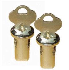 Set of 2 Eagle, A&A, Oak, Northwestern Gumball Candy Vending Machine Lock & Keys