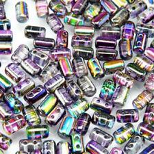 12 translúcida cilíndrica ámbar claro color cuentas de vidrio 30mm X 12mm G0043