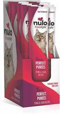 Nulo Freestyle Perfect Purees Grain Free Cat Treats Food Tuna Crab Case of 48